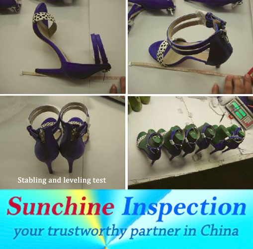 Lady shoes QC inspection service in Fujian