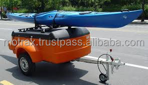 Motorcycle cargo trailer Covered, Camping, Insulated, Travel, Rotomould Trailer