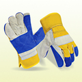 Double Palm Cow Split Leather Working Gloves
