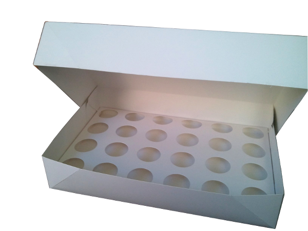 Cupcake boxes 24-hole, 12-hole, 6-hole fits many sizes cupcake and muffin