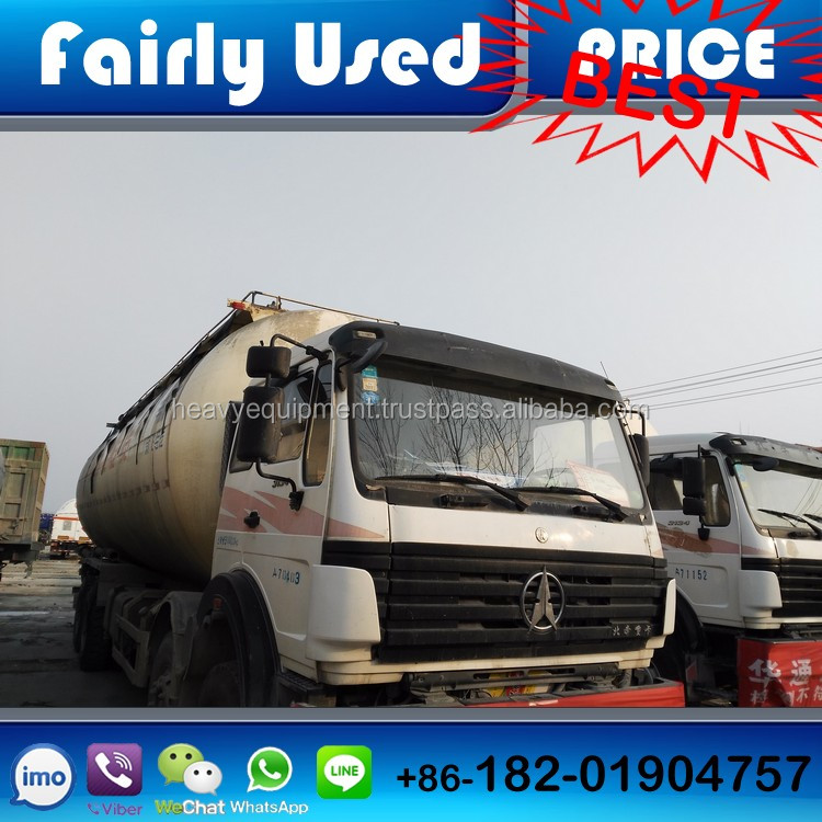 Used North Benz heavy truck 336 horsepower 8X4 powder material vehicle of Fly ash, cement, lime powder, ore powder