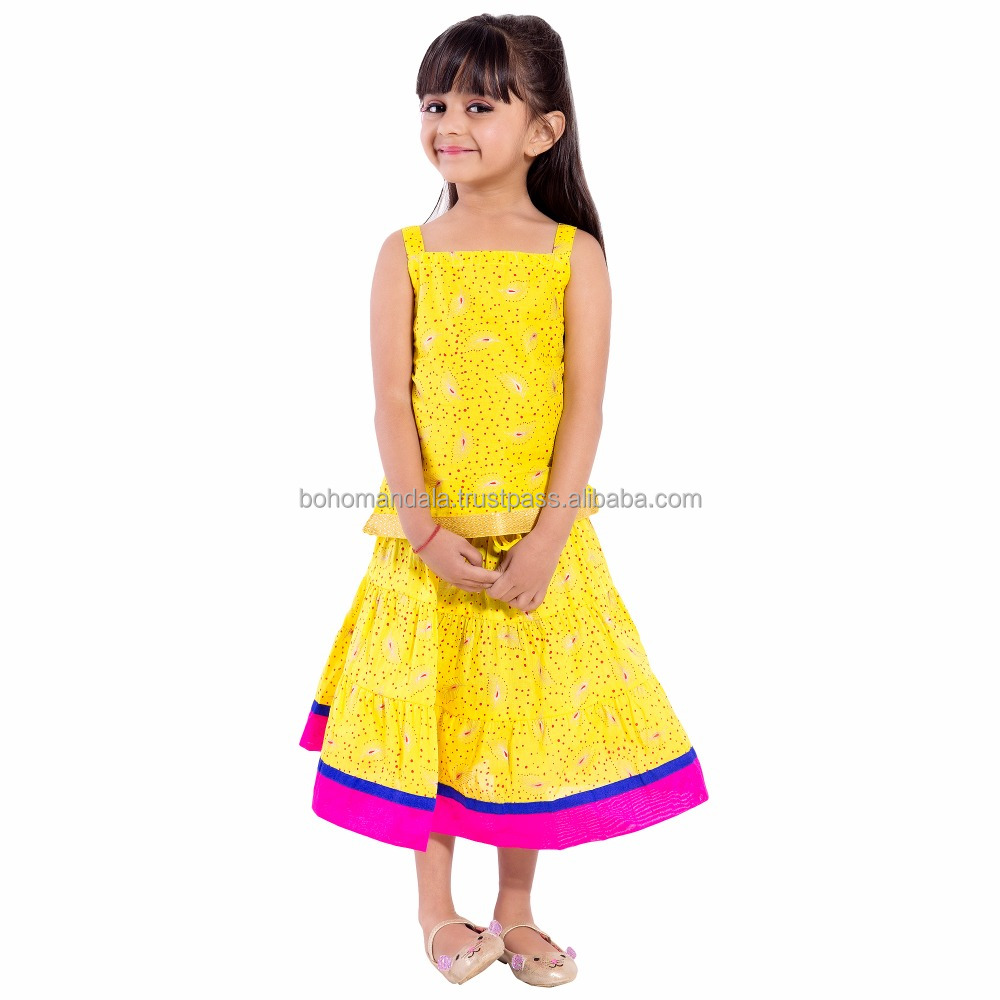 Wholesale Kids Wear Printed Indian Ethnic Traditional Dress Festival Kids Wear