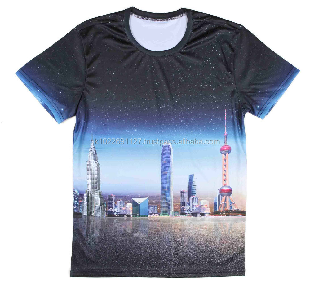 digital sublimation printing t shirt / 3d t-shirt printing machine shirts / cotton t-shirt