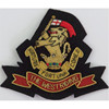 hand embroidery badges Duke Of Wellington's Regiment (West Riding) Cap Badge Pattern Bullion wire-embroidered Blazer Badge
