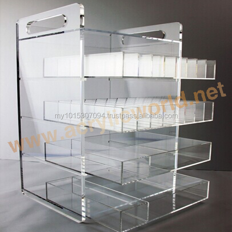 Wall Mounted E Cigarette Display/Clear Glass Dropper Bottle Display Case Manufacturer/Custom Acrylic E Liquid Display Case
