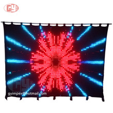 p4 new design full color led video curtain screen flexible led curtain light