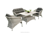 Exotic Outdoor Synthetic Rattan Sofa Set (Brooklyn Living Set)