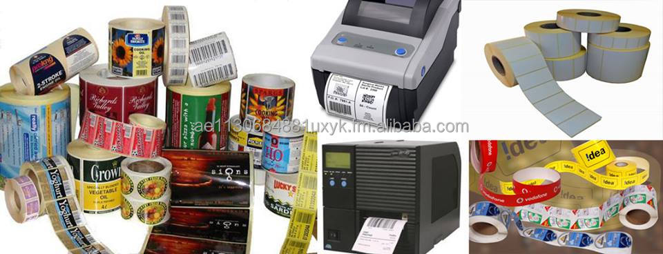 Adhesive labels, Stickers , Barcode Labels , Barcode Printer, Cash Roll , Thermal Transfer , paper roll , weight scale labels ,