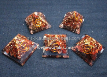 Red Tiger Eye Baby Orgone Pyramid