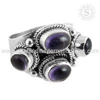 Wedding Jewel For Women 925 Sterling Silver Amethyst Ring Wholesaler