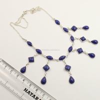 Wholesale Store ! 925 Sterling Silver Jewellery Natural LAPIS LAZULI Gemstone Handmade Necklace
