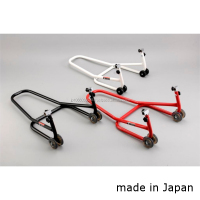 High quality and sturdy narrow paddock stand for motorcycles made in Japan
