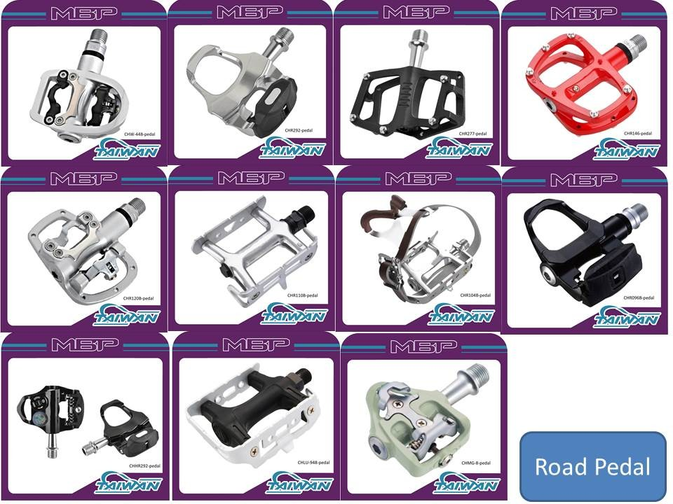 Competitive Price Cr-Mo Body Road Bicycle Pedals Black Bicycle Pedals
