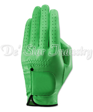 Green Color Sheep Skin Cabretta Leather Sports Golf Gloves