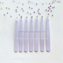 Pearl White Tweezers, Eyebrow Tweezers, Tweezers for Eyebrows,