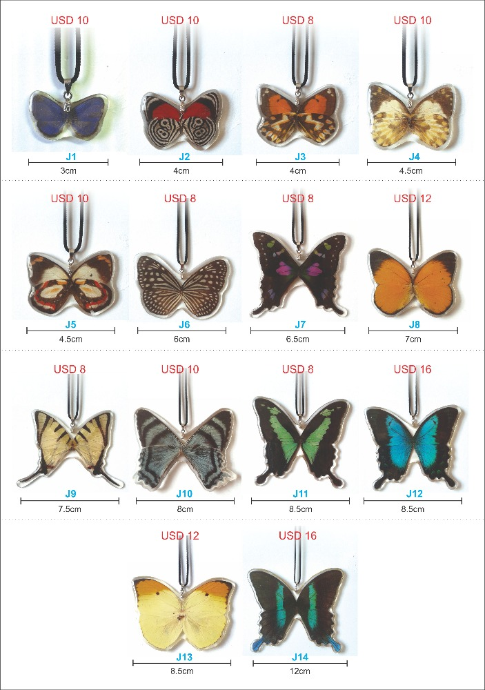 Wholesale/Pieces - Hand Made Butterfly necklace (Real Butterfly wings)