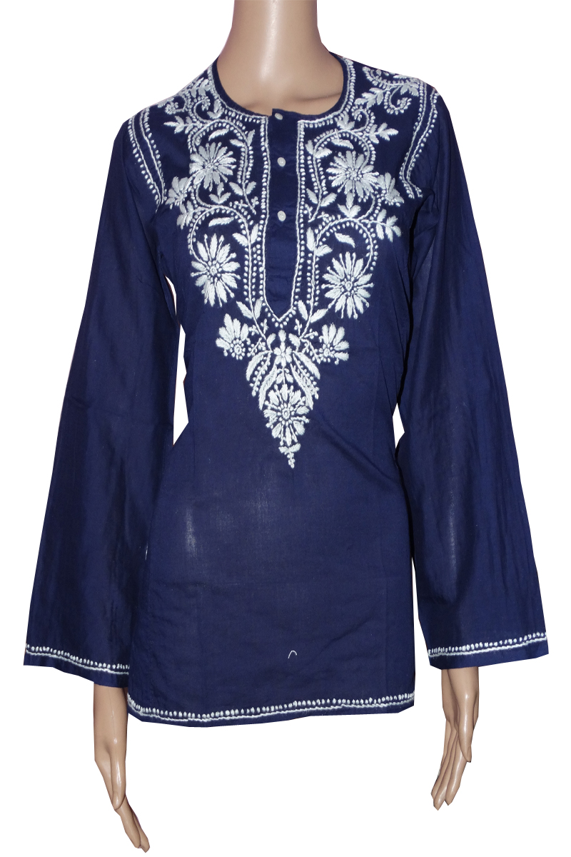 New Designer Lucknow Embroidered Stylish Kurti Top Tunic