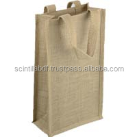 T051, LIVE GREEN, jute wine bag wholesale