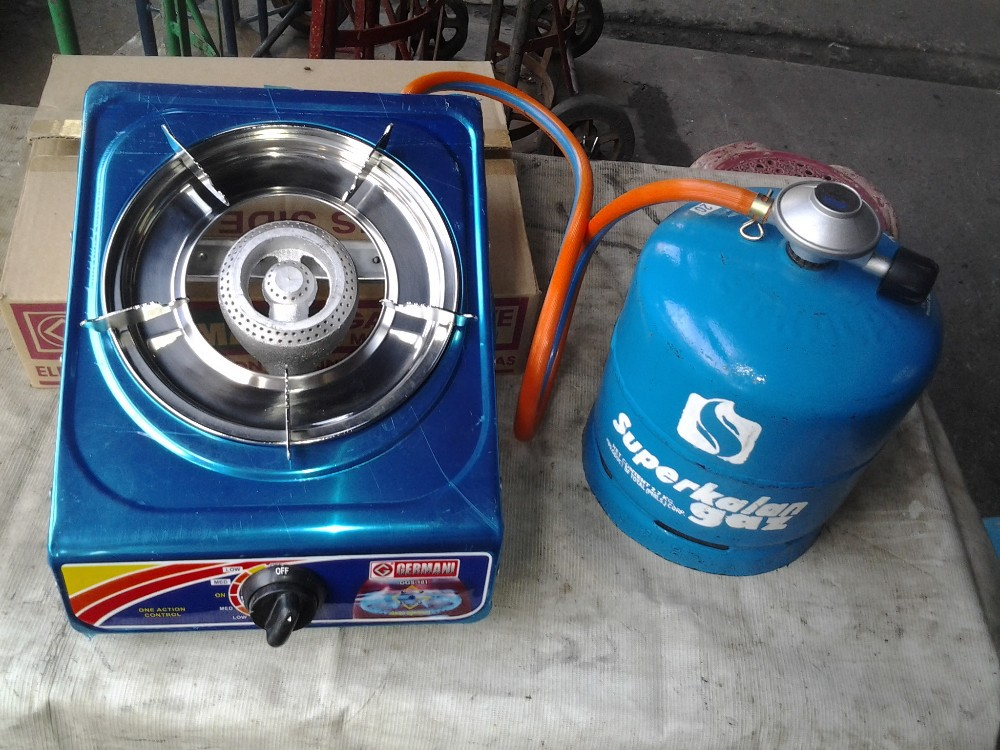 Single Cooker with 2.7 kg tank with hose and regulator