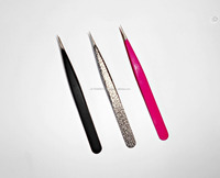 titanium L type volume tweezers/top quality volume eyelash extension tweezers/ perfect tweezers for eyelash extensio