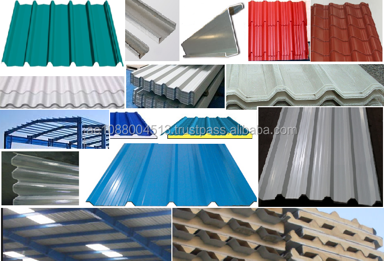Steel (GI/Mill Finish GI/ Color coated GI) , Aluminium, Aluzinc profile sheets for Roofing - Dubai +971 56 5478106/UAE