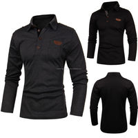 Stylish Mens Casual Slim Fit Long Sleeve Polo Shirts