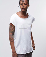 open necked 180 grams 100% plain white organic cotton t-shirts