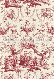 pink toile fabric