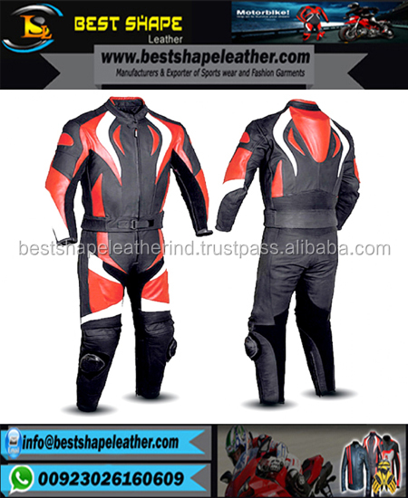 Dynamic colour range mens motorbike/motorcycle leather jacket trouser suit leather racing suits 2 piece style