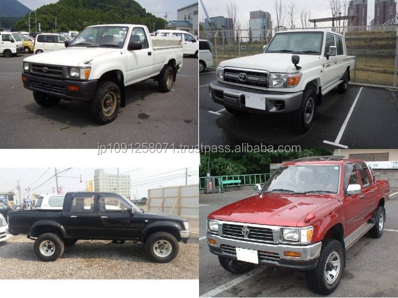 Durable and Japanese used toyota hilux pick up with good fuel economy made in Japan
