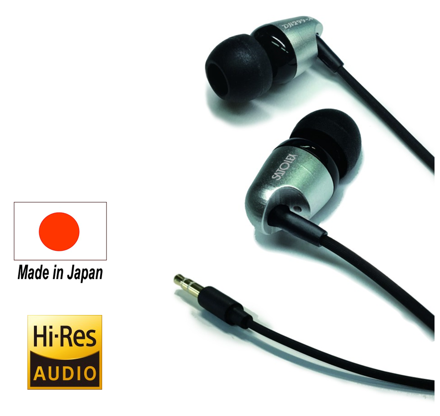 Quality of Japan, sound quality that goes into your world, high reso earphone