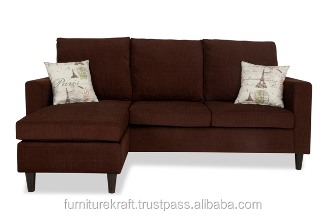 New simple designs drawing room modern L shaped sofa