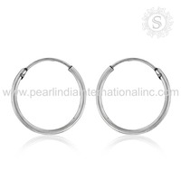 Gorgeous Women Bali Jewelry Jaipur Handmade Earring 925 Sterling Silver Jewelry Wholesale