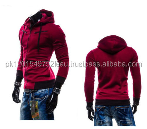Wholesale Latest New Design Casual Men Body Fit Sexy Hoodies Jacket Unique