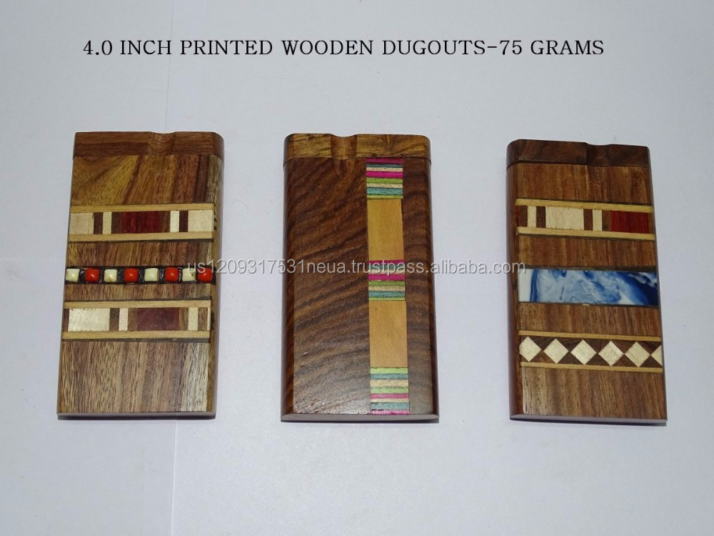 Designer Wooden Dugouts Glass Smoke Pipes (Paypal Accepted)