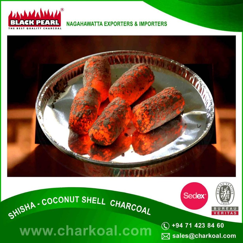 Natural Hookah Charcoal without Additives Available in Bulk for Hookah