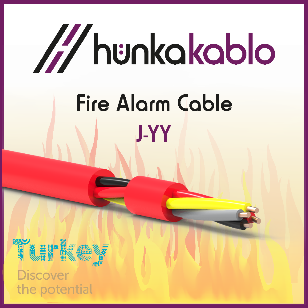 PVC Sheath Fire Alarm Cable J-YY Cable Turkish Manufacturer