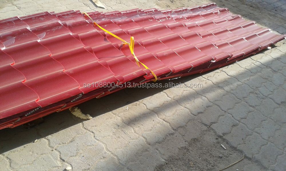 Aluminum and GI profile sheets look like Clay tile Roofing / Metal tile profile sheets + 971 56 7796760 Dubai