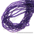 Amethyst faceted beads strands rondelle loose gemstone wholesale suppliers