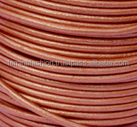 round leather cord copper color
