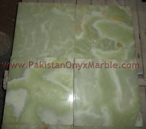 ELEGANT PURE GREEN ONYX FLOOR TILES COLLECTION
