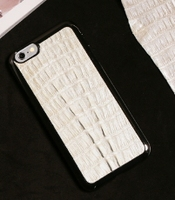mobile phone white caiman back cover