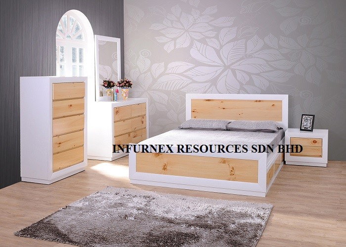 BEDROOM SET, BED, NIGHT STAND, MIRROR,DRESSER, SOLID WOOD