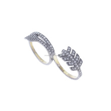 Wholesale Fashion Jewelry 925 Sterling Silver Designer Two Finger Snake Ring