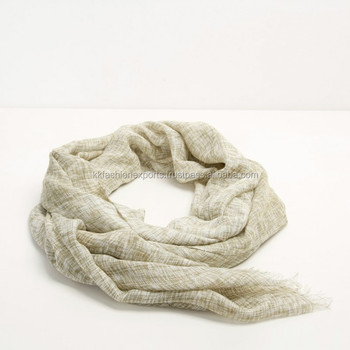 Wholesale 50% Cotton 50% viscose yarn dye scarf stole