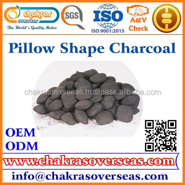 100% Natural Material Coconut Shell Charcoal Briquettes