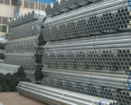 Hot Rolled Galvanised Mild Steel Pipe Malaysia