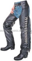 Men's Motorbike Leather Riding Chaps