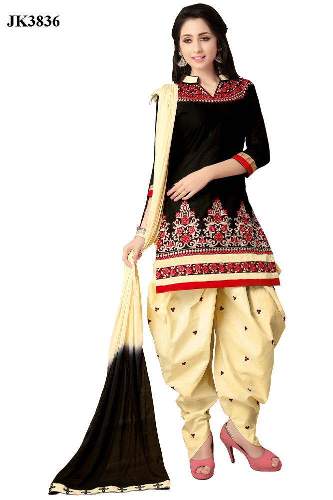 Awesome Embroidered Work Exclusive Women's Wear Patiala Salwar Suit