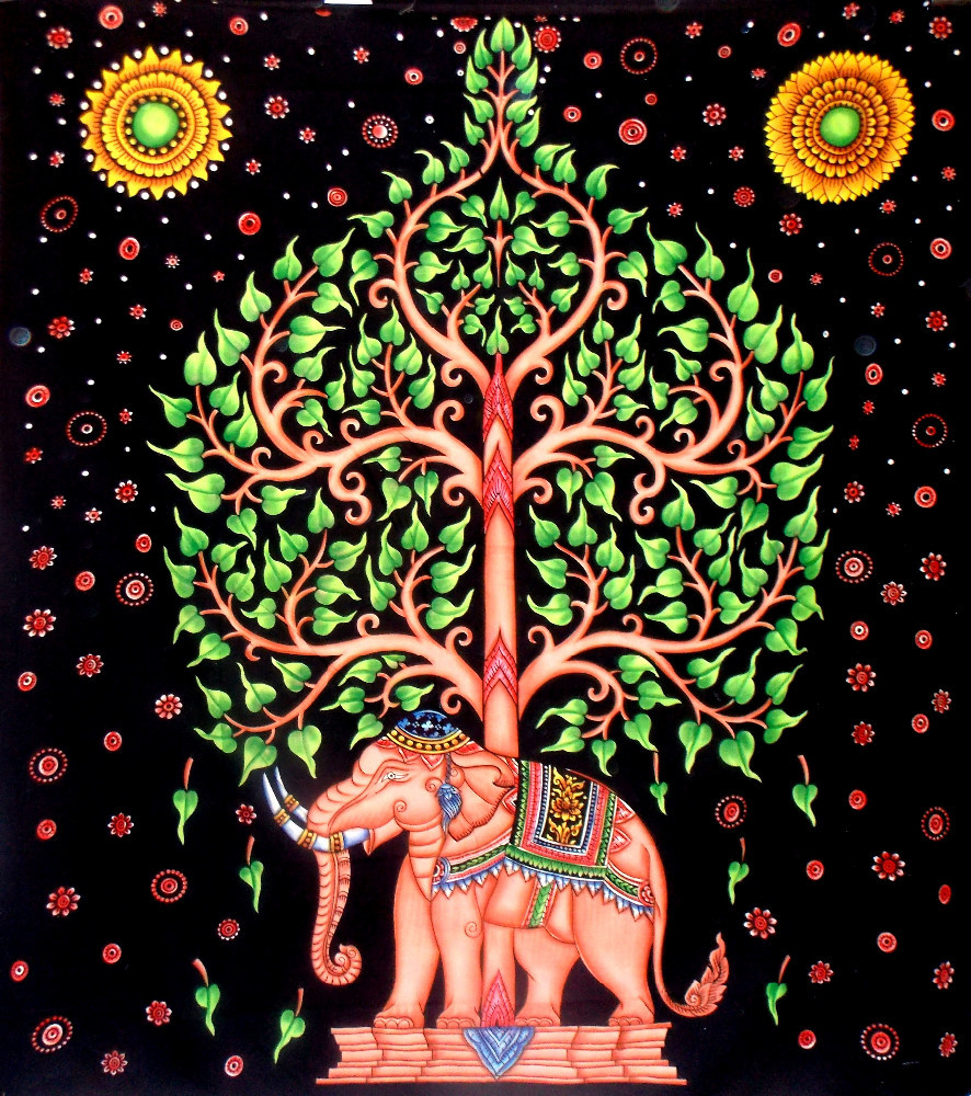 Elephant Tapestry Wall Hanging tree with elephant tapestry wall hanging star wall art universe